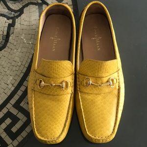 Yellow Snakeskin 🐍  Cole Hann Loafers